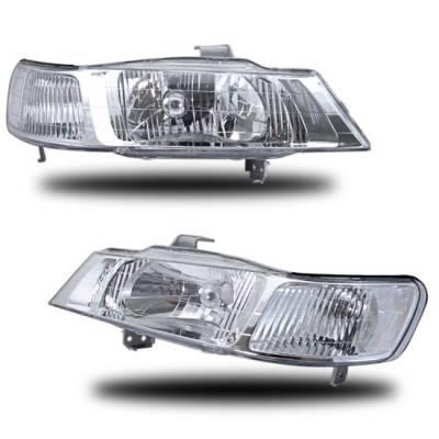 Custom - Chrome Crystal Headlights