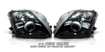 Custom - JDM Black LED Halo Pro Headlights
