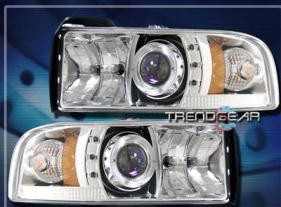 Custom - Chrome Angel Eye Halo LED Headlights