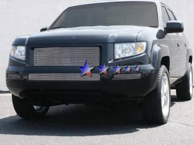 APS - Honda Ridgeline APS Billet Grille - Side - 2PC - Bumper - Aluminum - H87115A