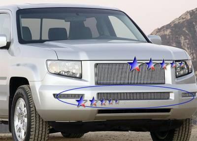 APS - Honda Ridgeline APS Billet Grille - Side - 2PC - Bumper - Aluminum - H87115V