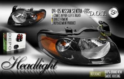 Custom - JDM Black Headlights