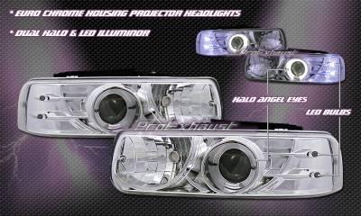 Custom - Euro Chrome Dual Halo LED Headlights
