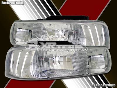 Custom - Chrome Clear Lense Headlights