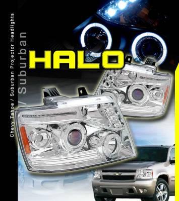 Custom - Chrome LED Halo Pro Headlights