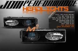 Custom - JDM Black Halo Headlights
