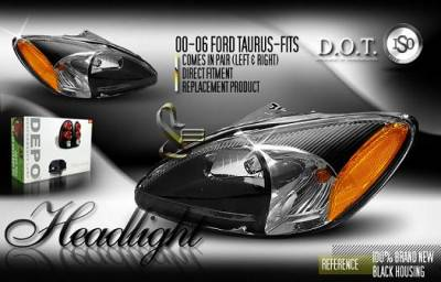 Custom - Black Depo Headlights