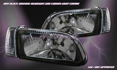 Custom - JDM Black Clear Headlights