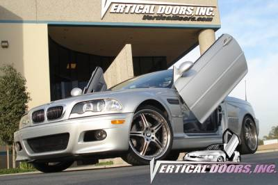 Vertical Doors Inc - BMW 3 Series 4DR VDI Vertical Lambo Door Hinge Kit - Direct Bolt On - VDCBMW399054DR
