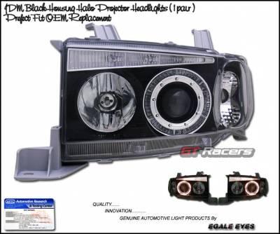 Custom - JDM Black Halo LED Headlights
