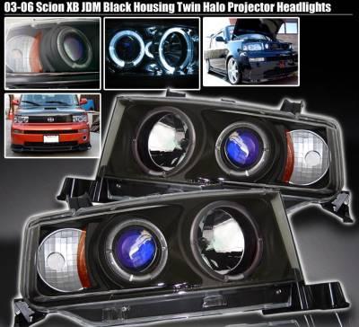 Custom - Black Twin Halo Pro Headlights
