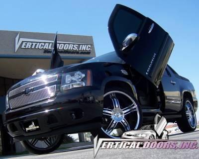 Vertical Doors Inc - Chevrolet Avalanche VDI Vertical Lambo Door Hinge Kit - Direct Bolt On - VDCCHEVYAVAL07