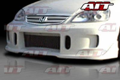 AIT Racing - Honda Civic AIT Racing BCN1 Style Front Bumper - HC01HIBCN1FB2