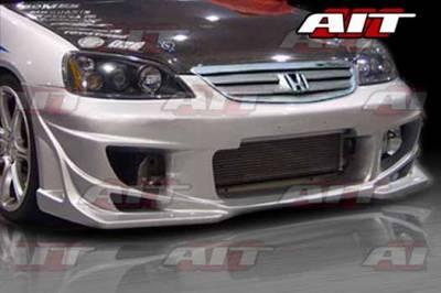 AIT Racing - Honda Civic 2DR AIT BMX Style Front Bumper - HC01HIBMXFB2