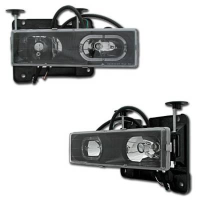 Custom - Black Halo Headlights