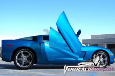 Vertical Doors Inc - Chevrolet Corvette VDI Vertical Lambo Door Hinge Kit - Direct Bolt On - VDCCHEVYCORC60508