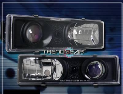 Custom - Black LED Halo Headlights