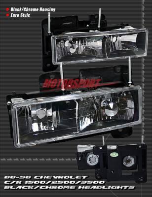 Custom - Euro Black Chrome Headlights