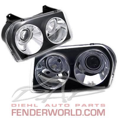 Custom - JDM Euro Black Headlights