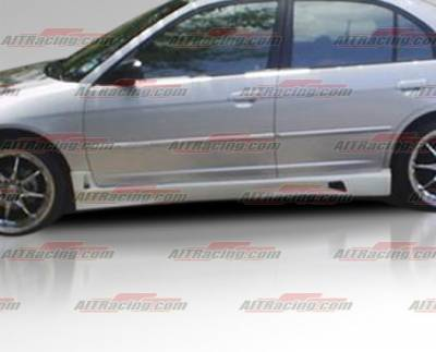 AIT Racing - Honda Civic 4DR AIT Racing R34 Style Side Skirts - HC01HIR34SS4