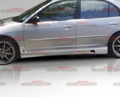 AIT Racing - Honda Civic 4DR AIT Racing R34 Style Side Skirts - HC01HIR34SS4