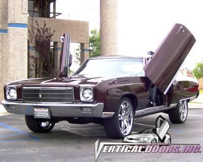 Vertical Doors Inc - Chevrolet Monte Carlo VDI Vertical Lambo Door Hinge Kit - Direct Bolt On - VDCCHEVYMC7072