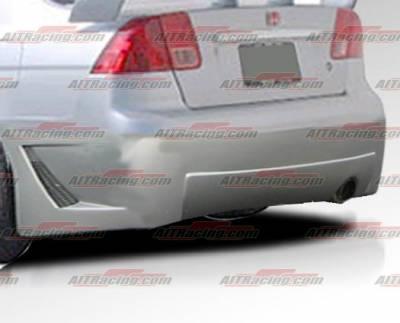 AIT Racing - Honda Civic 4DR AIT Racing Zen Style Rear Bumper - HC01HIZENRB4