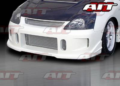 AIT Racing - Honda Civic 4DR AIT Racing BCN1 Style Front Bumper - HC03HIBCN1FB3