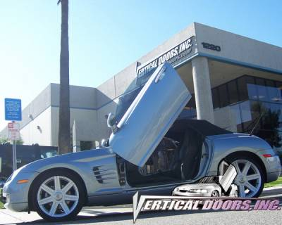 Vertical Doors Inc - Chrysler Crossfire VDI Vertical Lambo Door Hinge Kit - Direct Bolt On - VDCCRYCROS0408