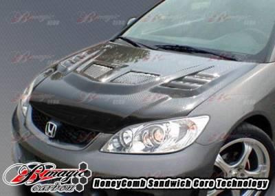 AIT Racing - Honda Civic BMagic R1 Series Carbon Fiber Hood - HC04BMR1SCFH