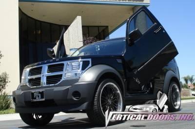 Vertical Doors Inc - Dodge Nitro VDI Vertical Lambo Door Hinge Kit - Direct Bolt On - VDCDNITRO07