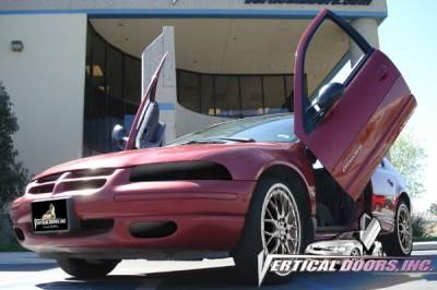 Vertical Doors Inc - Dodge Stratus 4DR VDI Vertical Lambo Door Hinge Kit - Direct Bolt On - VDCDSTR9500