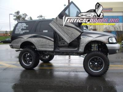 Vertical Doors Inc - Ford Expedition VDI Vertical Lambo Door Hinge Kit - Direct Bolt On - VDCFE9702