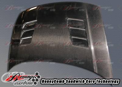AIT Racing - Honda Civic AIT Racing R1 Style Carbon Fiber Hood - HC06BMR1SCFH2