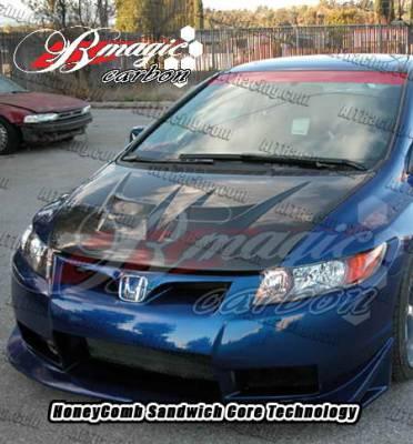 AIT Racing - Honda Civic AIT Racing Raiden Style Carbon Fiber Hood - HC06BMRDNCFH