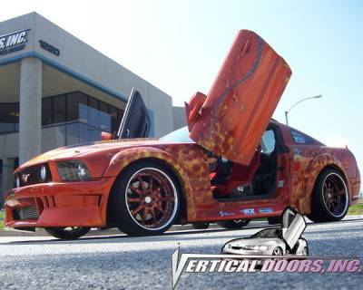 Vertical Doors Inc - Ford Mustang VDI Vertical Lambo Door Hinge Kit - Direct Bolt On - VDCFM0508
