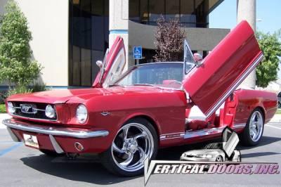 Vertical Doors Inc - Ford Mustang VDI Vertical Lambo Door Hinge Kit - Direct Bolt On - VDCFM6466