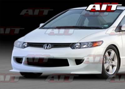 AIT Racing - Honda Civic 2DR AIT M Style Front Bumper - HC06HIMGNFB2