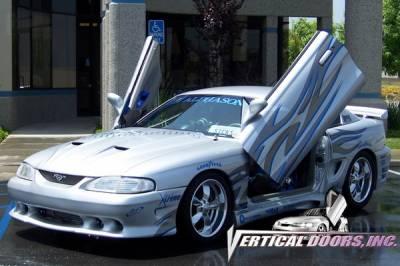 Vertical Doors Inc - Ford Mustang VDI Vertical Lambo Door Hinge Kit - Direct Bolt On - VDCFM9498