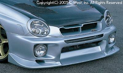 C-West - Zenki Front Bumper With Fog Screw Holes