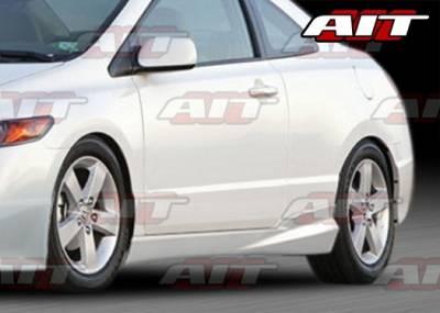 AIT Racing - Honda Civic 2DR AIT M Style Side Skirts - HC06HIMGNSS2