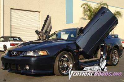 Vertical Doors Inc - Ford Mustang VDI Vertical Lambo Door Hinge Kit - Direct Bolt On - VDCFM9904