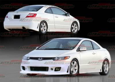 AIT Racing - Honda Civic 2DR AIT Racing Zen Style Complete Body Kit - HC06HIZENCK
