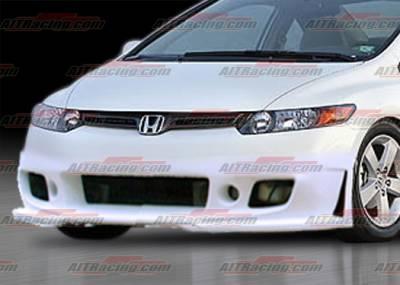 AIT Racing - Honda Civic 2DR AIT Racing Zen Style Front Bumper - HC06HIZENFB