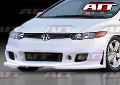AIT Racing - Honda Civic 2DR AIT Zen Style Front Bumper - HC06HIZENFB2