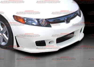 AIT Racing - Honda Civic 4DR AIT Racing Zen Style Front Bumper - HC06HIZENFB4