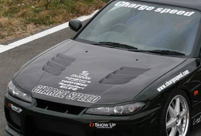 Chargespeed - Nissan 240SX Chargespeed Type-2 Vented Hood
