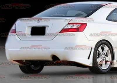 AIT Racing - Honda Civic 2DR AIT Racing Zen Style Rear Bumper - HC06HIZENRB