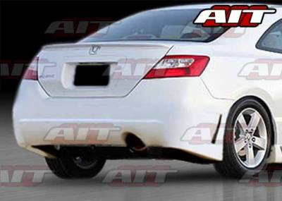 AIT Racing - Honda Civic 2DR AIT Zen Style Rear Bumper - HC06HIZENRB2