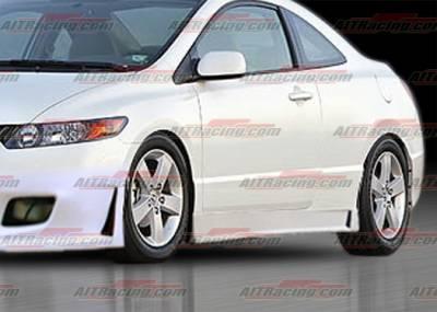 AIT Racing - Honda Civic 2DR AIT Racing Zen Style Side Skirts - HC06HIZENSS2